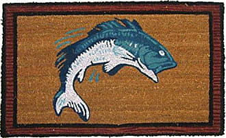 Geo Crafts G440 PVC Bass Fish Entry Way Doormat