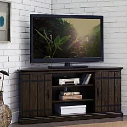 Overstock Hunt Club Rustic Oak Wood 55 Inch Corner TV Stand
