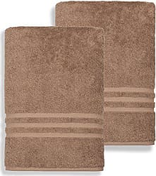 Linum Home Textiles 100% Turkish Cotton Denzi Bath Sheets, Set of 2, Brown