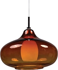 ET2 Contemporary Lighting ET2 Contemporary Lighting EP96085-141PC Minx 1-light RapidJack Pendant in Satin Nickel finish with Graduating Amber glass