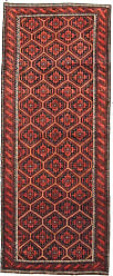 Nain Trading Authentic Baluch Rug 70x210 Runner Orange/Red (Wool, Iran/Persia, Hand-Knotted)