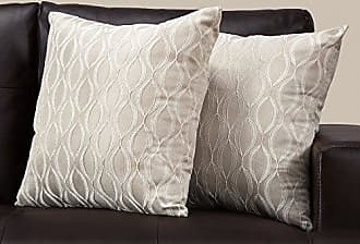 Monarch Specialties I 9345 Pillow Throw 18 x 18 Taupe