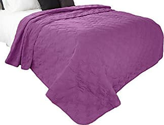Trademark Global Solid Color Quilt by Bedford Home King - Purple