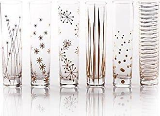 Zodax Centuri Champagne Glass, Golden Decal (Set of 6)