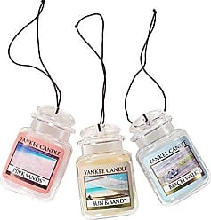 Yankee Candle Company Car Jar Ultimate Hanging Air Freshener 3-Pack (Beach Walk, Pink Sands, and Sun & Sand)
