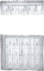 White Heritage Lace Harbor Lights 60-Inch Wide by 30-Inch Drop Tier