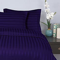 Elegant Comfort 1500 Thread Count -Damask Stripes- Egyptian Quality Luxurious Silky Soft Wrinkle & Fade Resistant 3pc Duvet Cover Set, Full/Queen, Purple