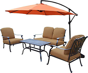 Oakland Living Outdoor Oakland Living Hampton Chat Patio Set - 7213-7212-7211-7-D54-AB