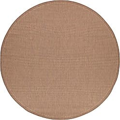 Couristan Couristan 1001/1500 Recife Saddle Stitch Cocoa/Natural Rug, 7-Feet 6-Inch Round