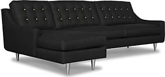 Apt2B Cloverdale 2pc Sectional Sofa - Configuration: Left Chaise - Dark Grey Poly Blend - Sold by Apt2B - Modern Couch Made in the USA