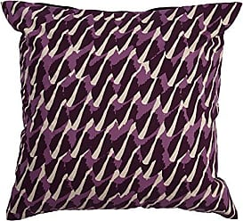 Jaipur Abstract Pattern Purple Cotton and Polyester Polly Fill Pillow, 20-Inch x 20-Inch, Grape Wine Ng-8