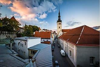 Noir Gallery Historic Church in Tallinn Estonia Canvas Wall Art - TNES-02-TW-08