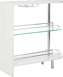 Coaster 2-holder Bar Table Glossy White and Clear