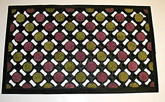 Geo Crafts Rubber Coco Dots Doormat