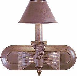 Volume Lighting V7911 Toltec Wall Sconce with 1 Light and Metal Shade