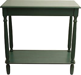 Decor Therapy FR1801 Console Table, 28.25 W x 11.8 D x 28.25 H, Antique Teal