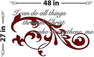The Decal Guru Flourish Quote Wall Decal (Silver & Burgundy, 27 (H) X 48 (W))
