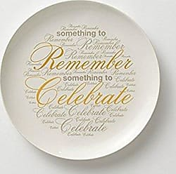 Enesco Wild About Words Something to Remember Plate, Multicolor