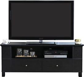 Walker Edison 59-in. Wood TV Console with Multi-purpose Storage - Black - HN60CMPBL