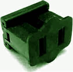 Queens of Christmas WL-PL-FPG-2 Green Female Electrical Receptacle (Pack of 50)