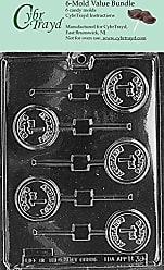 CybrTrayd B039-6BUNDLE Babys 1st Birthday Lolly Chocolate Candy Mold with Exclusive Copyrighted Chocolate Molding Instructions