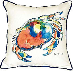 Betsy Drake SN103 Dungeness Crab Pillow, 12 x12