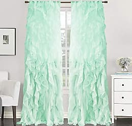 Sweet Home Collection 1 Pack Window Treatment Sheer Cascading Panel Vertical Ruffled Curtains in Many Sizes and Colors, 96 x 50, Mint