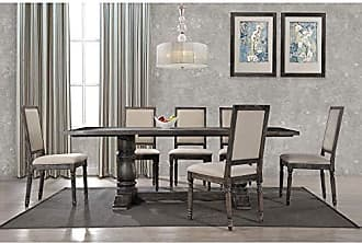 Best Master Furniture Lisa Dining Table Only Grey