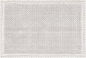 Five Queens Court 2171145RG20 Sonia Bath Rug With Crochet Trim, Blush