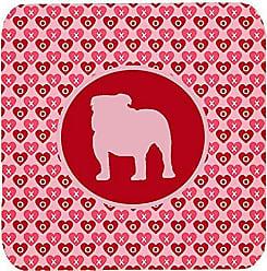 Carolines Treasures SDK1058-A-FC Fox Terrier Smooth Valentine Hearts Foam Coasters Multicolor Set of 4 3.5 H x 3.5 W
