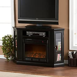 Southern Enterprises Claremont Convertible Black Electric Fireplace Media Console - FE9315