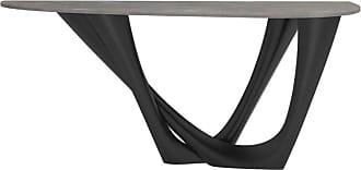Zieta G-console Table Duo In Powder-coated Steel With Concrete Top By Zieta