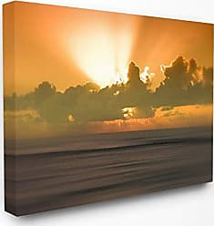 Stupell Industries The Stupell Home Décor Collection Hawaii Kauai Bright Orange Sunset Radiance Ocean Photography Stretched Canvas Wall Art, 30 x 40, Multi-Color