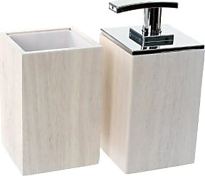 Nameek's Gedy PA581-02 Papiro Wooden Bathroom Accessory Set, White