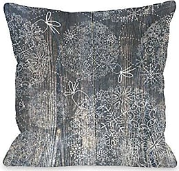 One Bella Casa Ornaments Etched on Wood Throw Pillow by OBC, 16x 16, Multi
