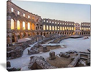 DESIGN ART Designart PT11050-20-12 Inside Ancient Roman Amphitheater-Landscape Wall Art Canvas Print-20x12, 12 H x 20 W x 1 D 1P