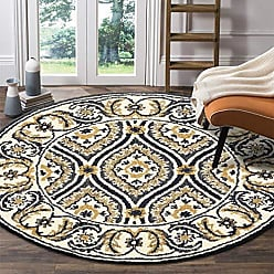 L.R. Resources Inc. DAZZL54066GRY40RD Area Dazzle LR54066-GRY40RD Gray X 4 ft Plush Indoor Round Rugs, 4 x 4