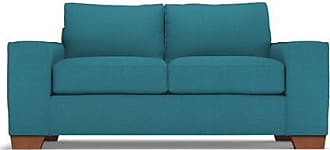 Apt2B Melrose Twin Size Sleeper Sofa - Leg Finish: Pecan - Sleeper Option: Deluxe Innerspring Mattress - Teal Performance Fabric - Sold by Apt2B - Mode