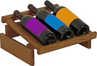 Wooden Mallet 3 Bottle Dakota Wine Display Rack, Medium Oak