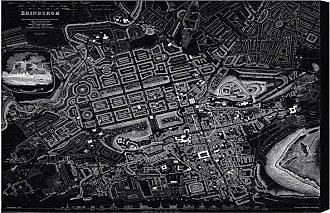 Hatcher & Ethan Edinburgh 1834 Map Canvas Art - HE12983_60X40_CANV_XXHD_HE