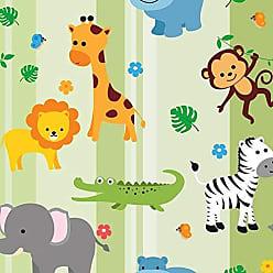 Lar Adesivos Papel de Parede Infantil Animais Safari Bebê Teen N4391
