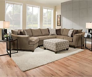 United Furniture Simmons Upholstery Albany Truffle Sectional - UDF488-1