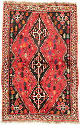 Nain Trading Authentic Ghashghai Rug 55x36 Beige/Pink (Wool, Iran/Persia, Hand-Knotted)