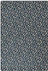 Milliken Carpet 4000126048 Imagine Figurative Collection Lyrical Area Rug, 78 x 109, Imperial Blue