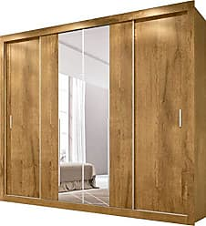 Docelar Roupeiro Florença 4 Portas Com Espelho - Rovere Prime - Docelar