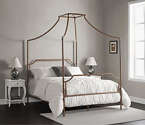 The Curated Nomad Bailey Brushed Dark Copper Colored Full-size Canopy Bed (Bailey Brushed Copper Full Size Canopy Bed)
