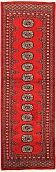 Nain Trading Oriental Rug Pakistan Buchara 2ply 62x20 Runner Red/Rust (Wool, Pakistan, Hand-Knotted)