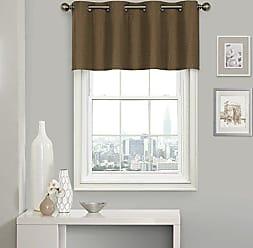 Ellery Homestyles KOZDIKO Eclipse Clara Window Valance, 52 x 18, Amber
