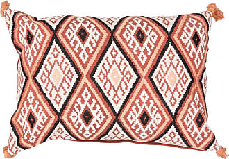 Jaipur Living Rugs Jaipur Tribal Cotton and Linen Decorative Pillow - Orange Down Fill - PLW102385