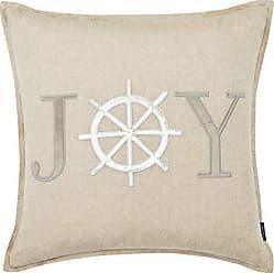 Revman International Nautica Joy Applique Throw Pillow, 20x20, Brown